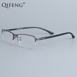 f490b40440c QIFENG Spectacle Frame Eyeglasses Men Korean Computer Optical Myopia Eye  Glasses Frame For Male Transparent Clear Lens QF1506