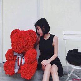 $enCountryForm.capitalKeyWord Australia - VIP Forever Love Everlasting Roses Flower Teddi Bear Artificial Flowers Gifts For Women Valentine's Day