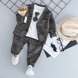$enCountryForm.capitalKeyWord Australia - Rizi Baby Boy Fashion Formal Clothing Set Kid Tie Suits High Quality Autumn Spring Children Clothes 1 2 3 4