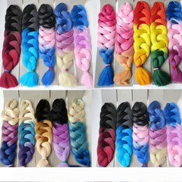 xpression kanekalon braiding hair ombre Australia - Xpression braiding hair synthetic Ombre hair 165g Folded 32inch Three tone color Kanekalon jumbo Crochet braids twist hair extensions