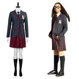 $enCountryForm.capitalKeyWord NZ - The Umbrella Academy Cosplay Costume School Uniform Outfit Adult Women Girls Cosplay School Uniform