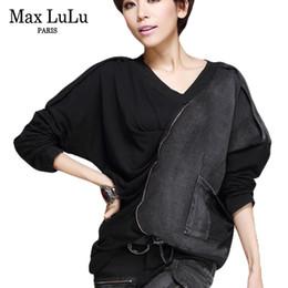 Korean Woman Crop T Shirt Australia - Max Lulu New Fashion Korean Brand Girls Crop Top Tee Womens Punk T Shirts Cotton Woman V Neck Tshirt Harajuku Camiseta Oversized J190427