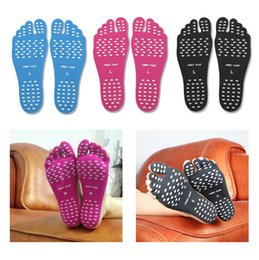 adhesives for shoe soles 2019 - 2PCS Pair Stickers Shoes Feet Care For Stick On Soles Sticky Pads Beach Sock Waterproof Hypoallergenic Adhesive Foot Car