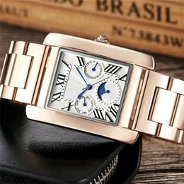 Wholesale 2019 Luxury Top Nautilus Sports Watch Men Japan Monement Watches Rose Gold Case Black Dial L Stainless mens All Dials Work Wristwatches