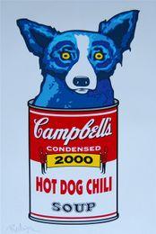 $enCountryForm.capitalKeyWord UK - Blue Dog -24,1 Pieces Home Decor HD Printed Modern Art Painting on Canvas (Unframed Framed) 16X24.