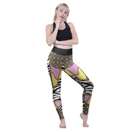 Zebra Chains Australia - Girls High Waist Leggings Zebra Chains 3D Graphic Full Print Comfortable Pencil Fit Women Workout Jeggings Lady Full Length Pants (Y600576)
