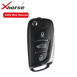 Audi Key Types Australia - Xhorse X002 Wire Remote English Universal Remote Key for VVDI2 and VVDI Key Tool For DS Type 3 Buttons 10 pcs lot