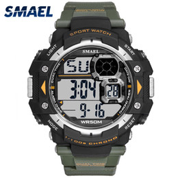 blue dial clock Australia - Mens Digital Watches SMAEL Brand LED Men Watch Big Dial Alarm Clock Men Sport Watches Waterproof1379B Men Military Watches Army