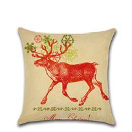 $enCountryForm.capitalKeyWord Australia - Wholesale 6 Designs Fancy Deer Pattern 45*45cm Household Linen Cushion Covers Bedroom Set Christmas Gifts Home Decor Party Decoration