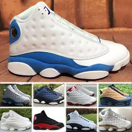 cheap purple shoes for men UK - Cheap Basketball Shoes 13 Chicago bred mens sneaker 13s Bordeaux black cat sports shoes hologram barons discount shoes for man