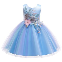 $enCountryForm.capitalKeyWord Australia - Children Princess Party Kids Dresses for Girls Cake Tutu Lace Flower Girls 1-12 YRS Baby Girls Clothes Kids Wedding Party Dress