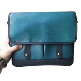 Discount real laptops - New Fashion Unisex Shoulder Bag Real Leather Men Handbags Letter Print Crossbody Bag Female Business Laptop Bags High Qu