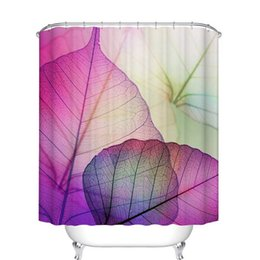$enCountryForm.capitalKeyWord UK - Bathroom Shower Curtain Set Home Decorations Purple Leaves Design - Polyester Fabric Waterproof Mildew Bath Curtains