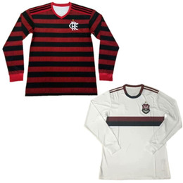 Flamengo Jersey UK - 2020 Flamengo Long Sleeve Soccer Jersey #9 GABRIEL B. #27 B. HENRIQUE Uniform 19 20 DIEGO DE ARRASCAET Long Sleeve Football Shirt