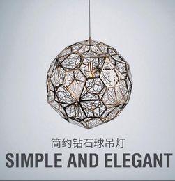 $enCountryForm.capitalKeyWord Australia - Replica of Web Etch Modern Pendant Light Shadow Lamp For Living Room Study Kitchen