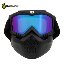 Girls Ski Goggles Australia - WOLFBIKE Cycling Eyewear Airsoft Paintball Goggles Ski Snowboard Motorcycle Windproof Mask Outdoor Sports Dustproof Glasses #164181