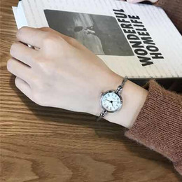 korean art jewelry NZ - CHIC wind decorative watch female student bracelet type opening small fresh wild Korean version of the simple retro art defense