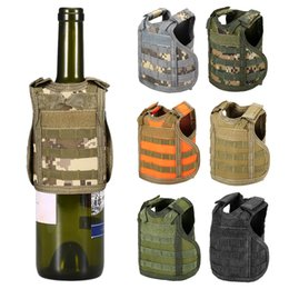 men plain vest Australia - Tactical Beer Vest Bottle Can Cooler Holder Military Molle Mini Miniature Beverage Bottle Handy Wine Bottles Can Holder Sleeve