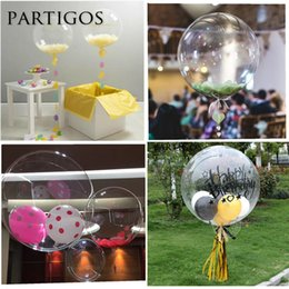 24 inch balloons online shopping - 50pcs inch No Wrinkle bubble bobo Transparent Clear Balloons Marriage Wedding Decro Helium Inflatable Balls Kids Gifts SH190913