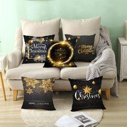 $enCountryForm.capitalKeyWord Australia - Hot Christmas Snowflake Letter Cushion Cover Pillow Case Home Office Sofa Decor hot sales