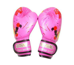 $enCountryForm.capitalKeyWord UK - Children Kids Boxing Gloves Cartoon Printing Breathable Soft Pu Sparring Training Boxing Gloves Kickboxing Pads