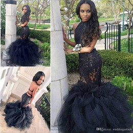 $enCountryForm.capitalKeyWord Australia - 2018 Real Photos Halter Sexy Mermaid Prom Dresses Backless Sleeveless Unique Design Ball Gowns Ruffles Party Evening Dresses Prom Gowns