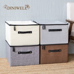 $enCountryForm.capitalKeyWord Australia - Washable Clothes With Cover Home Organizer For Fabric Finishing Box Large Quilt Kids Toy Sundries Storage Boxes J190713