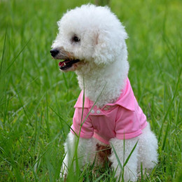 T Shirts Materials NZ - Fashion Dog Polo Shirts For Spring Summer Colorful Pet Clothes Poromeric Material For Small Baby Pet Easy Washing Factory Price