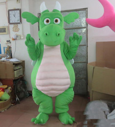 $enCountryForm.capitalKeyWord Australia - 2019 High quality green   purple dragon mascot costume with wings for adult to wear for sale