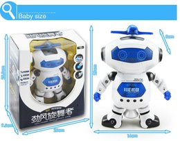 Rotating dance lights online shopping - The new space dance electric robot music walking electronic toy robot degree rotating light music infrared children s toys