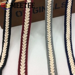twist scarves UK - Meetee 1.5cm Braid Cotton Twist Weaving Ribbon Lace Webbing DIY Sewing Craft Scarf Clothing Decoration Accessories AP538