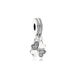 Fashion Love Charm UK - NEW 100% 925 Sterling Silver 1:1 791949CZ HEART PETALS HANGING CHARM Original Women Wedding Fashion Jewelry