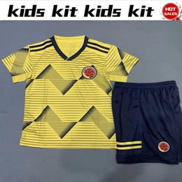 dfdecc3d4 2019 Kids Jersey Copa América Colombia home kit with pants 19 20 Child  10  JAMES Football Shirts home Boy soccer Kit 2019 shirt+pants