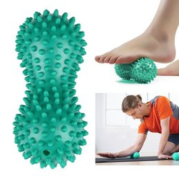 hand therapy massager NZ - Peanut Shape Massage Yoga Sport Fitness Ball Durable PVC Stress Relief Body Hand Foot Spiky Massager Trigger Point Foot Pain D19011203