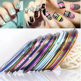Patterned taPe online shopping - 13 Color Rolls Striping Tape Line Nail Art Decoration Sticker Multi Colors Nail Art Nails Patterns Highlight Nail Wraps Sticker