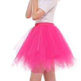 ladies red tutu Australia - Womens High Quality Pleated Gauze Short Skirt Adult Tutu Dancing Skirt Ladies Candy Color Half-length Gauze Tutu Ball