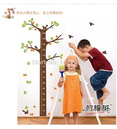 Wall Sticker Large Child Tree Australia - Wholesale large size 175x100cm cartoon height wall stickers tree for children room ,20pcs lot free shipping