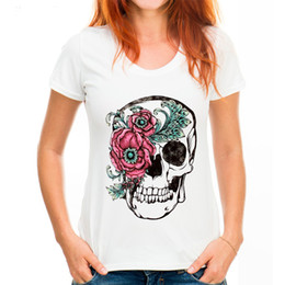 t shirt female skull 2019 - Fashion Women T-shirt Slower Suger Skull Punk T Shirt Spring Summer Tops For Female Clothing Hot Sale Harajuku Streetwea