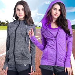 SportS jacket fur online shopping - Women Yoga Hooded Coat Zipper Sports Jacket Long Sleeve Yoga Shirts Coat Quick Dry Fitness Running Tops Sportswear LJJO6722