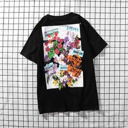 $enCountryForm.capitalKeyWord NZ - new Mens Designer T Shirt Premium Brand White T Shirts Floral Print Womens TShirts High Street Hip-hop tee Fashion Men Clothing Luxury tees
