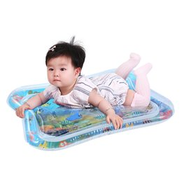 Wholesale 5pcs Baby Kids Water Play Mat Toys Inflatable thicken PVC infant Tummy Time Playmat Toddler Activity Play Center water mat for babies