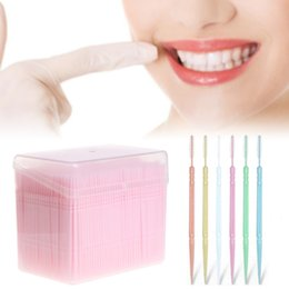 toothpick floss pick Australia - New 1100Pcs Box 6.5cm Double-headed Teeth Cleaning Brush Stick Floss Pick Soft Toothpick Dental Flosser Food grade PP