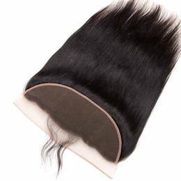 Human Hair Frontal Part Closure UK - Straight Hair Lace Frontal Free Part 13x4 Remy Human Hair Body Water Deep Wave Lace Frontal Brazilian Virgin Hair Lace Frontal Closure