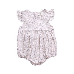 507f86e68aab White Flower New Arrival Baby Girls One Piece Rompers Cotton Newborn Girls  Jumpsuits Fly Sleeve Summer Casual Fashional Baby Girls Bodysuits
