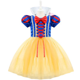 For Toddlers Australia - Aini Babe Baby Costume For Kids Infant Party Dress Girl Vestido Toddler Girl 1 2 Years Birthday Princess Snow White Theme Dress Y19050801