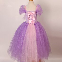 $enCountryForm.capitalKeyWord Australia - Tulle Girls Cosplay Rapunzel Princess Dress Costume Children Masquerade Ball Gowns For Kids Halloween Birthday Party Tutu Dress J190505