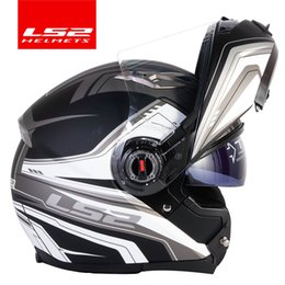 $enCountryForm.capitalKeyWord Australia - casco capacete LS2 ff370 flip up stomtrooper road bike moto helmet for motorcycle with sun shield lens