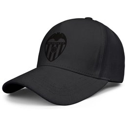 Pure black baseball caPs online shopping - Valencia CF Los Ches VCF Pure black black for men and women baseball cap design fitted golf hats blank fashion baseball personalized cap