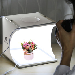 Light Box For Photos Australia - PULUZ 22.5 LED Light Box Photography Foldable Photo Studio Shadowless Lamp Bottom Light Panel Pad for 20cm accessories