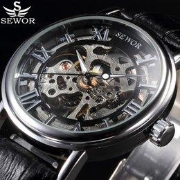$enCountryForm.capitalKeyWord Australia - reloj reloj SEWOR Luxury Top Brand Mechanical Watch Skeleton Watches Men Casual Clock Leather Fashion Wristwatches Erkek Kol Saati Relojes